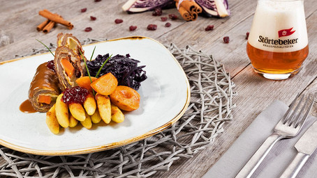 Venison Roulade With Apricots & Cranberries