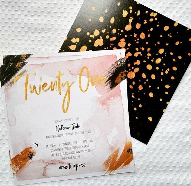 Twenty-First Invites