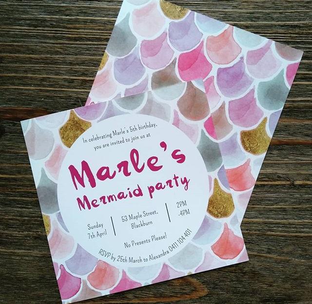 Mermaid Party Invites