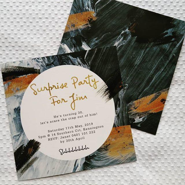 Surprise Party Invitations