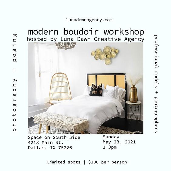 Modern Boudoir Workshop