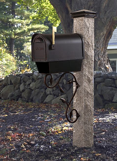 Granite Mail Post at Osborne Nursery & Materials