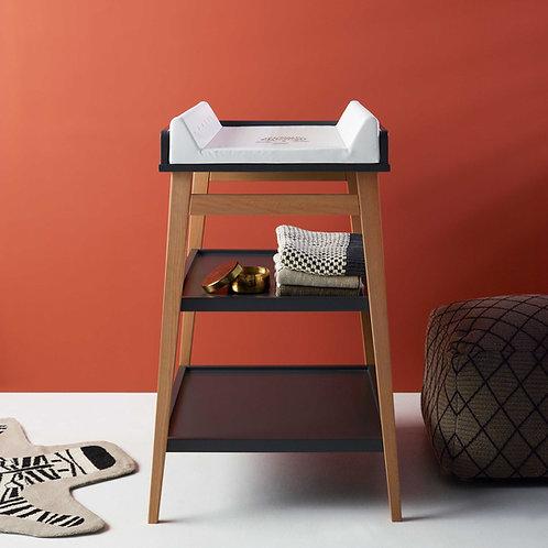 שולחן החתלה אפור כהה בשילוב רגלי עץ HIP