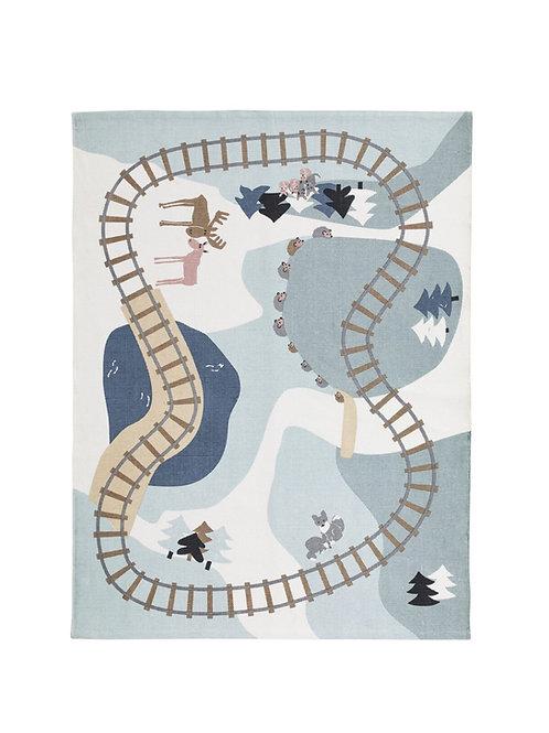 שטיח מסילת רכבת 100% כותנה, 130*170 ס״מ