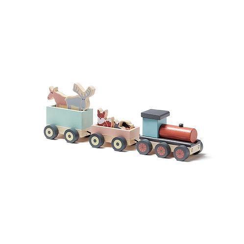 רכבת חיות מעץ