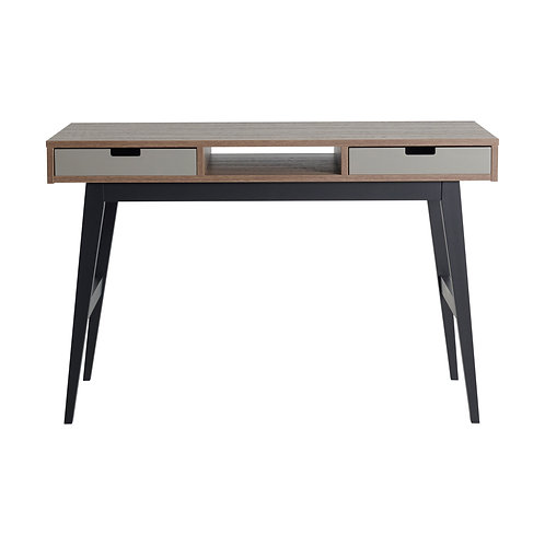 TRENDY שולחן כתיבה עץ, רגלים שחורות