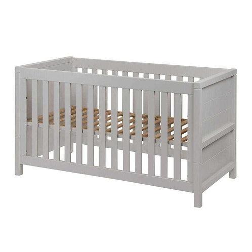 STRIPE מיטת תינוק אפורה