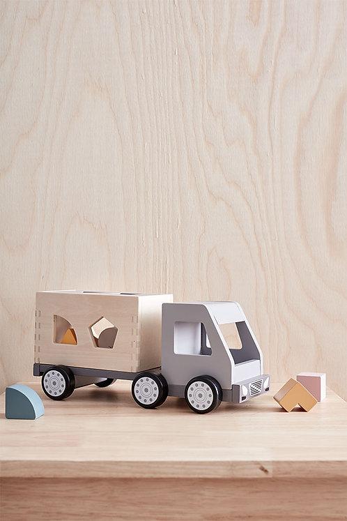 משאית צעצוע עם תיבת צורות להשחלה