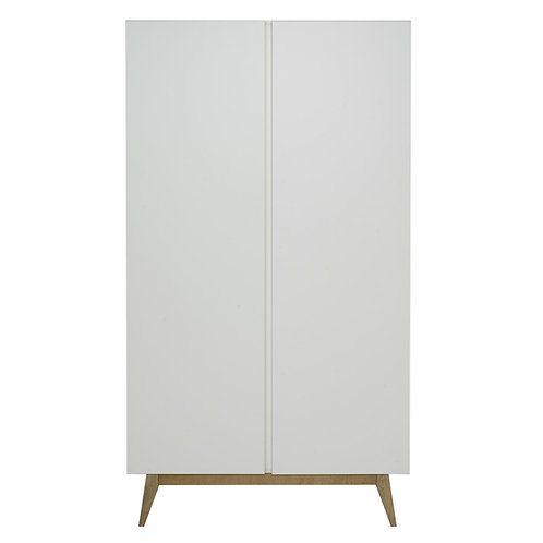 TRENDY ארון לבן שתי דלתות