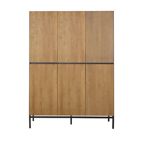 HAVANA ארון שלוש דלתות אפור כהה בשילוב עץ