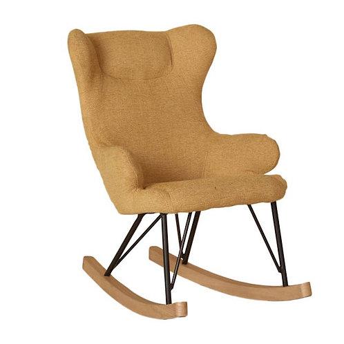 כסא נדנדה לילדים - צהוב זעפרן