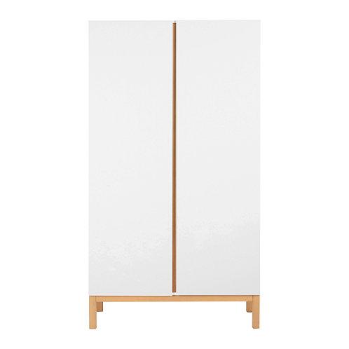 INDIGO ארון לבן שתי דלתות
