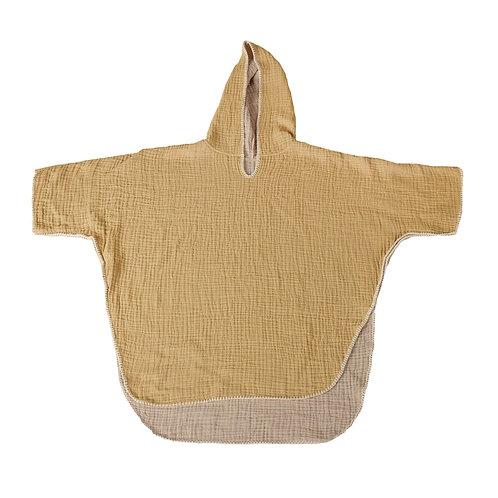 פונצ׳ו רך מבד טטרה  לילדים - צהוב חרדל