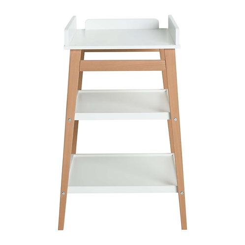 שולחן החתלה לבן בשילוב רגלי עץ HIP