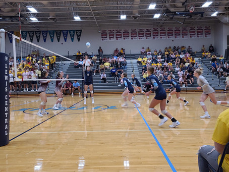 Volleyball Goes Gold night of Shenandoah Victory
