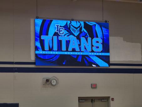 New Scoreboard Lights Up Gym