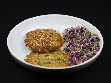Homemade Crab Cake with Sprouts