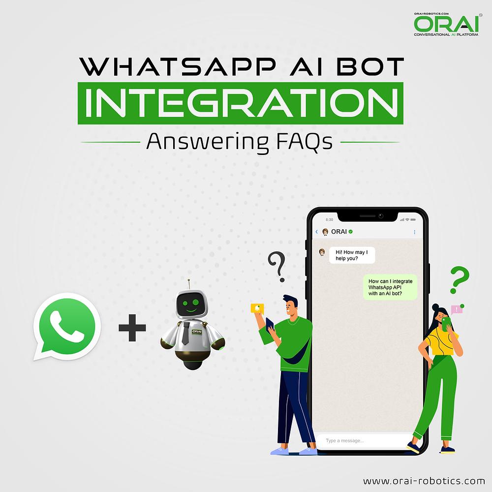 ORAI's blog on WhatsApp AI Bot integration answering FAQ's
