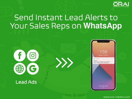 Send Instant Lead Alerts to Your Sales Reps on WhatsApp