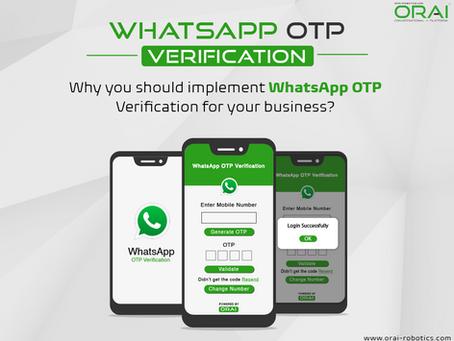 Understanding WhatsApp OTP Verification as a service