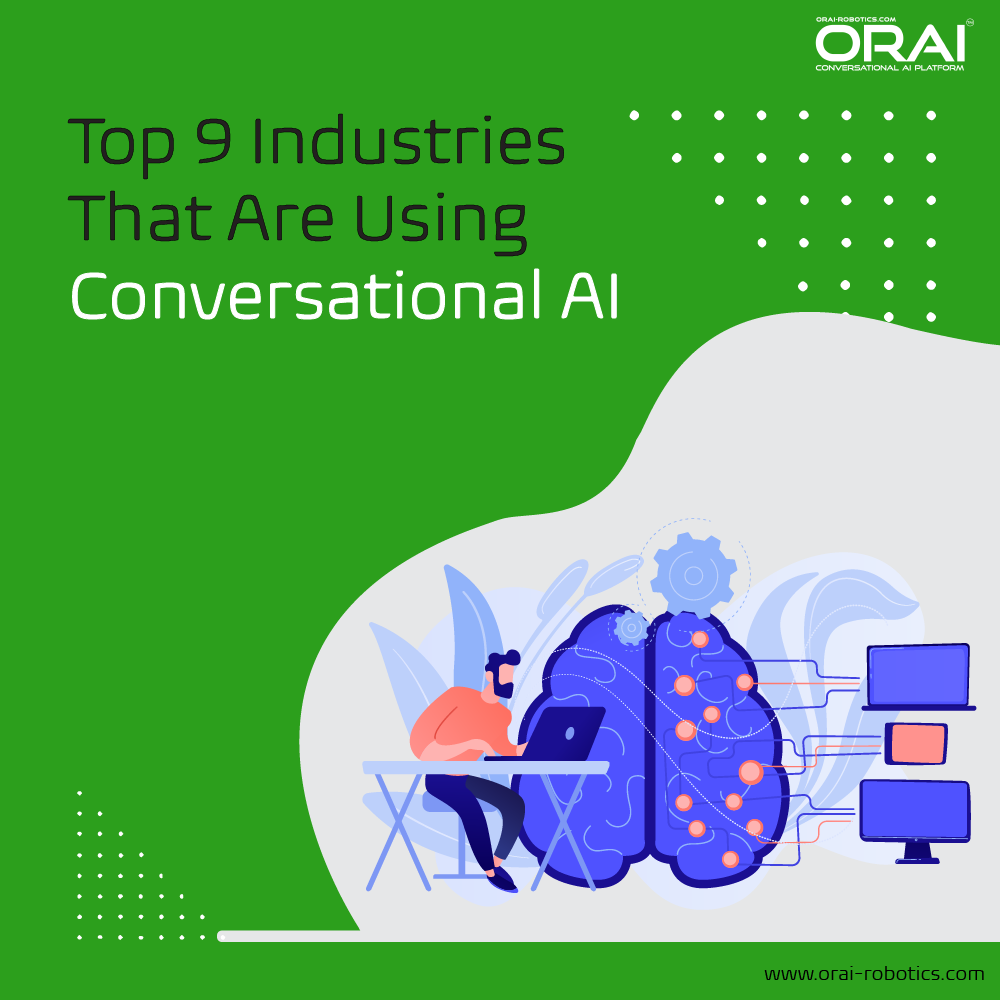 Orai's blog on top 9 industries that are using Conversational AI