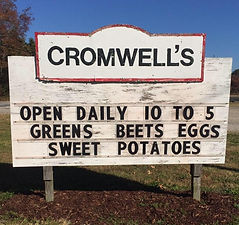 Cromwell's Farm Sign
