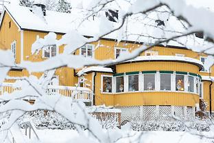 Åre Fjällsätra i vinterskrud