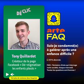 FAQ - Arte disponible sur Snapchat