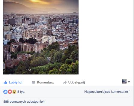 Zdjecie MyMalaga na oficjalnym profilu Malagi uzyskalo 5tys polubien :)