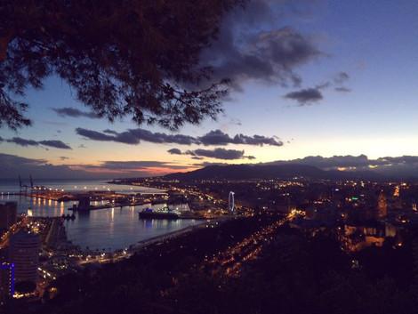 Zachody słońca w Maladze...