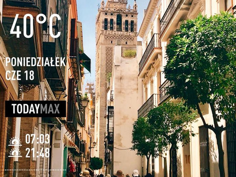 Que calor! W Sevilli 40 stopni