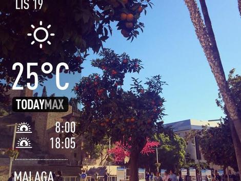 Pogoda w Maladze - listopad :)