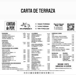 menu na zew tarasie