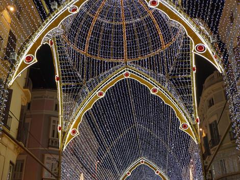 Iluminacje świąteczne w Maladze
