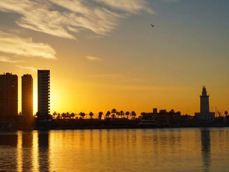 Wschody słońca w Maladze