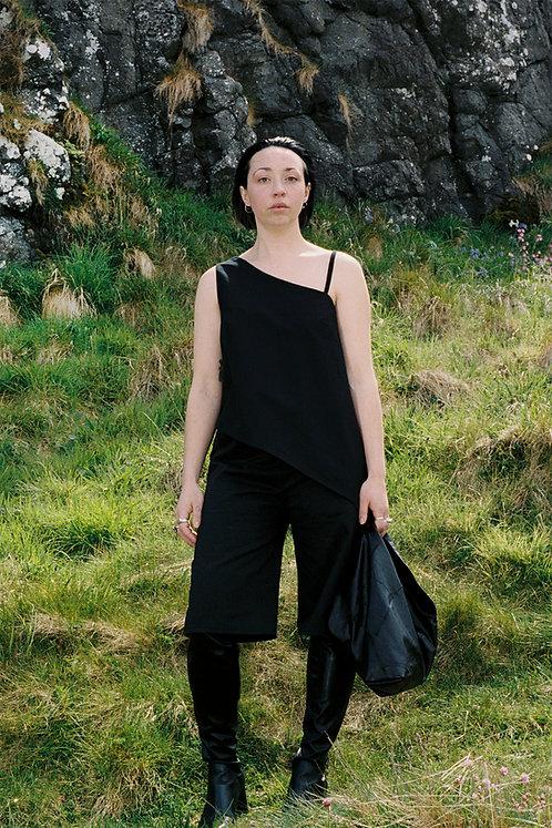 Asymmetrical Top In Black