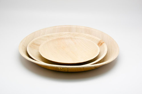 Round plate 10' large palm leaf 10PC
