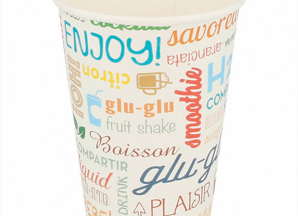 כוסות מתכלות מנייר דגם פרול 100 יחידות