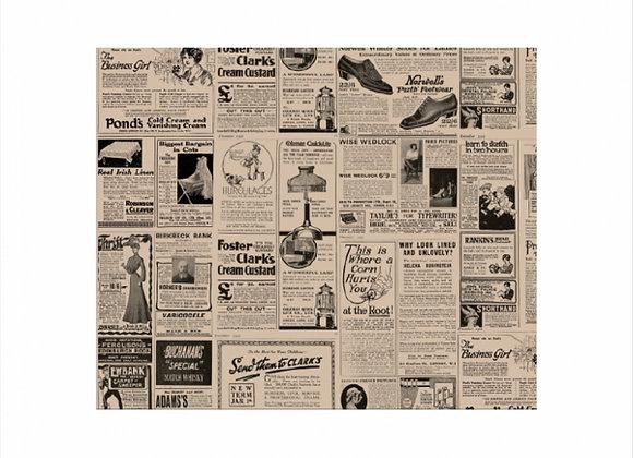 נייר עמיד שומן דגם  עיתון כהה 28/34 1000 יחידות