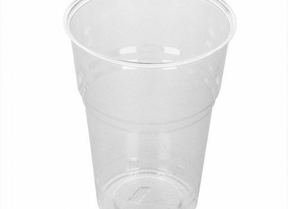 """כוסות 400 מ""""ל שקופות מתכלות PLA"""
