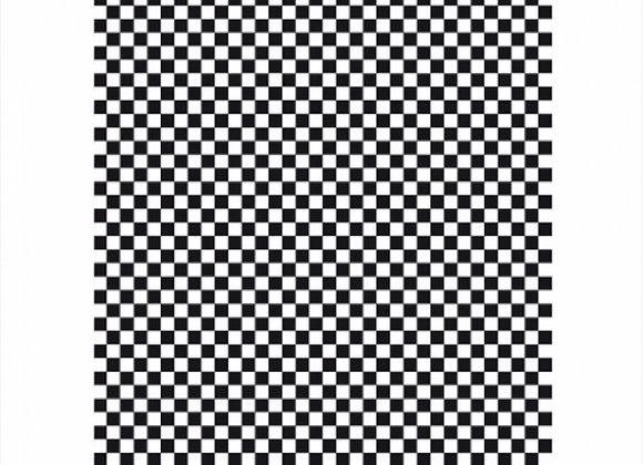 נייר עמיד שומן דגם משובץ שחור לבן 28/34 1000 יחידות