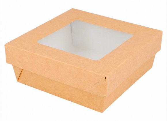 קופסא פלוס מכסה עם חלון 12*12*5