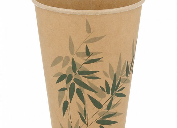 כוסות גדולות מתכלות נייר דגם גריין 100 יחידות
