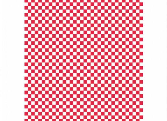 נייר עמיד שומן דגם משובץ אדום לבן 28/34 1000 יחידות