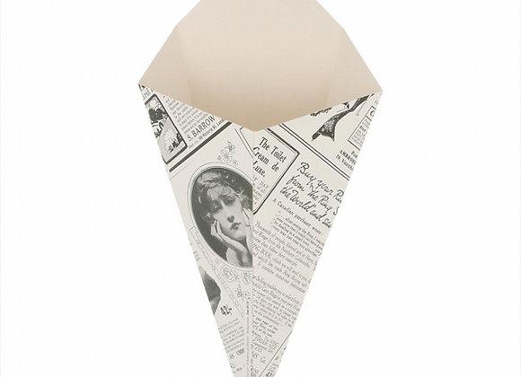 קונוס מקרטון דגם עיתון גודל 100 ארוז 200 יחידות