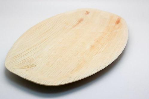 Oval Tray mediumpalm leaf 10PC