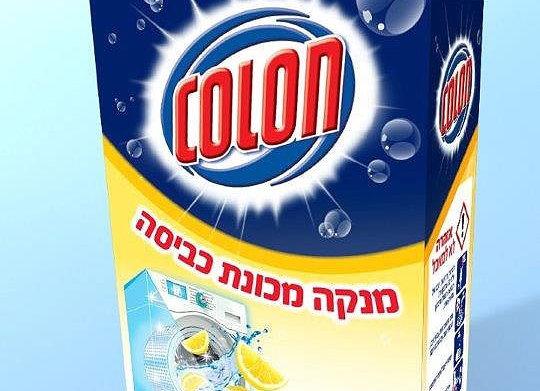 קולון מנקה למכונות כביסה לימון