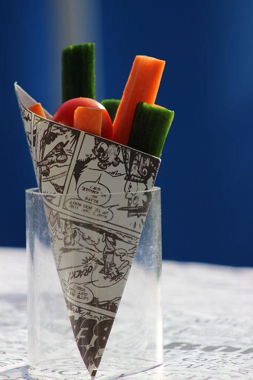Paper cone bright Comicsstyle