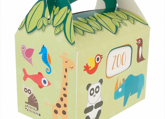 אריזת קרטון דגם גן חיות לילדים ארוז 50