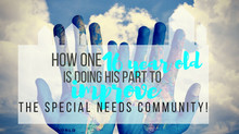 How one 16 year old is doing his part to improve the special needs community!
